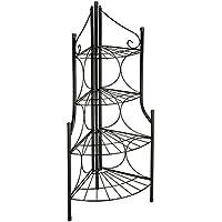 TecTake Pflanzentreppe Blumenbank 4 Stufen rund - belastbar bis 40 kg - ca. 30 x 30 x 106 cm