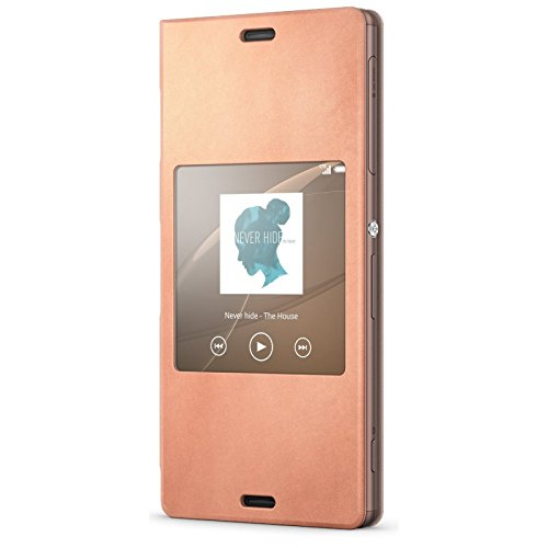 Sony Hülle Case Cover mit Fenster Window Kompatibel mit Xperia Z3 Smartphone - Kupfer