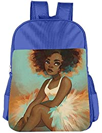 African Afro Black Girl Art Children School Backpack Carry Bag For Youth Boys Girls