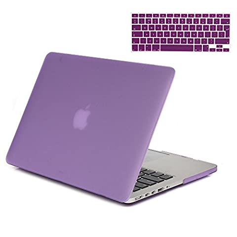 Gosin® 2 in 1 Ultra Slim Matte Plastic Rubberized Hard Protective Case Cover & Keyboard Skin for Macbook Pro 15'' with Retina Display