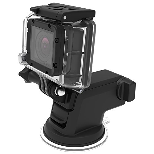 Cup Mount Iphone Plus 6 Suction (iOttie HLCRIO122GP Easy One Touch Suction Cup Mount für GoPro Hero 4/3/3+ session/silber/schwarz/weiß)