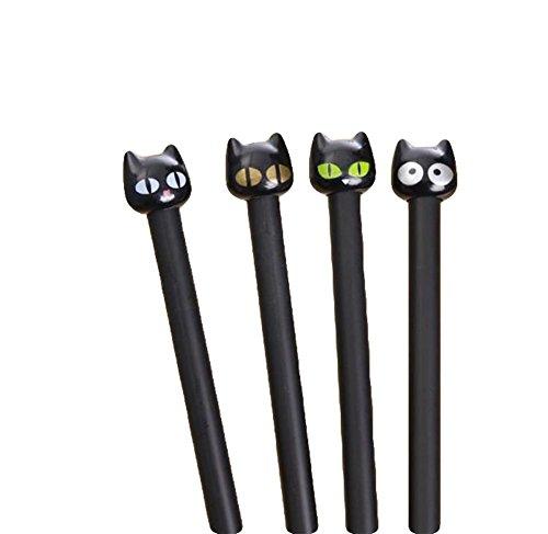 Da.Wa 4X Bolígrafo de Tinta de Gel Bolígrafo de Creativa de Diseño de Gatos de Ojos Grandes