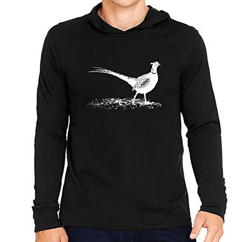 Idakoos Pheasant Sketch Kapuze Langarm T-Shirt M -