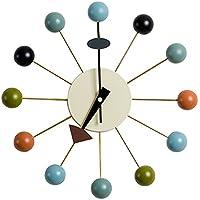 MLF® Nelson Clock Ball. Multicolore. Supporto di legno Balls & Aluminum quarzo.