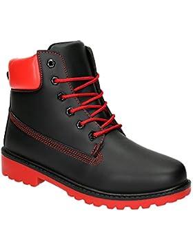 Herren Damen Outdoor Schnürboots Wander Stiefel Stiefeletten Trekking Worker Unisex Schuhe