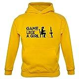 Game Like A Girl - Kinder Hoodie/Kapuzenpullover - Gelb - S (3-4 Jahre)