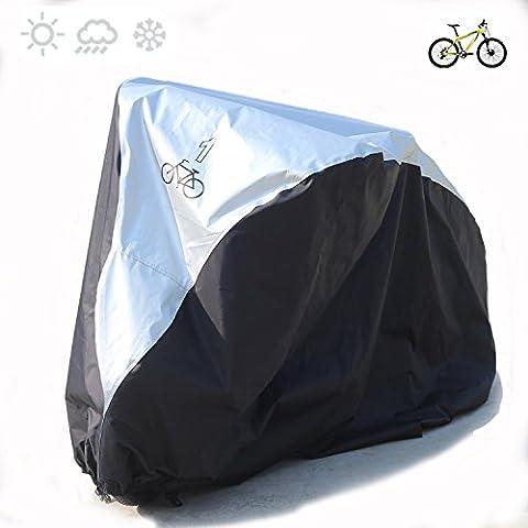 Deluxe couvertures de vélo en nylon 190T Heavy Duty étanche Portable léger pour l'extérieur d'intérieur de stockage Unique de vélo Fucnen Vélo Coque anti poussière pluie Protection UV pour VTT Vélo de route Compatible avec