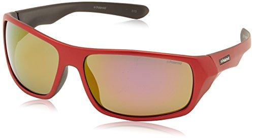 60e08d9914 Polaroid PLD/216621_0A4, Gafas de Sol Unisex, Rosso Nero, 64