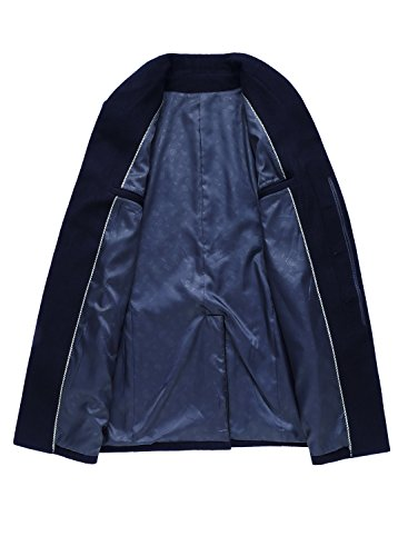 "sulandy - Manteau - Homme bleu Navy 001 (fit chest)41""-42""UK XL-Asian XXXL Navy 001"