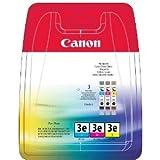 Canon (BCI-3 E / 4480 A 262) - original - 3 x Tintenpatrone MultiPack (cyan, magenta, gelb) - 500 Seiten