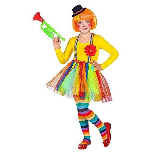 Kostüm Tutu Mit Clown - Lively Moments Clown Tütü mit Hosenträger, Blumen und Minihut für Kinder / Tüllrock / Fasching Kostüm Zubehör