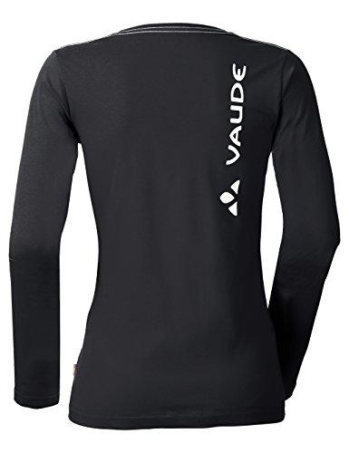 VAUDE Damen T-Shirt Brand Long Sleeve black