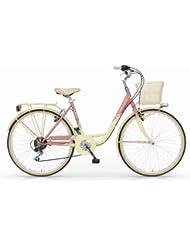 MBM PARISIENNE 26'' BICYCLE CITY BIKE TREKKING BICICLETA DE CIUDAD WOMAN MUJER 6S PESCA