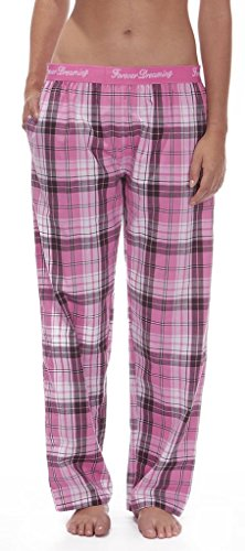 Ladies 100% Cotton - Woven OR Flannel - Tartan Check Pyjamas Bottoms Pants Elasticated Waist Navy Blue Red Pink Fuschia S M L XL - 419GKfPbJXL - Ladies 100% Cotton – Woven OR Flannel – Tartan Check Pyjamas Bottoms Pants Elasticated Waist Navy Blue Red Pink Fuschia S M L XL
