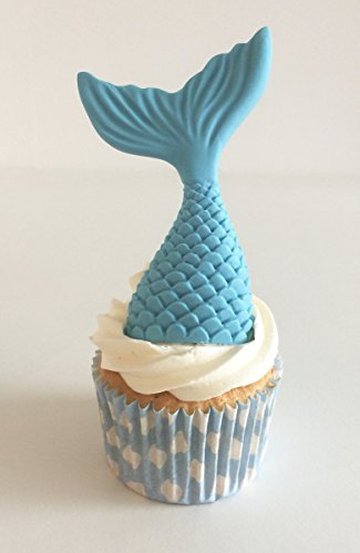 1 großer Zucker Meerjungfrau Schwanz: Baby blau / 1 Large Sugar Mermaid Tail: Baby Blue