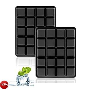 Stampo per cubetti di ghiaccio in silicone, 40 Cubetti Vaschette Ghiaccio in Silicone da 2,5 CM per Alcolici, Cocktails, Drink, Whiskey - Set Da 2(Cubo)