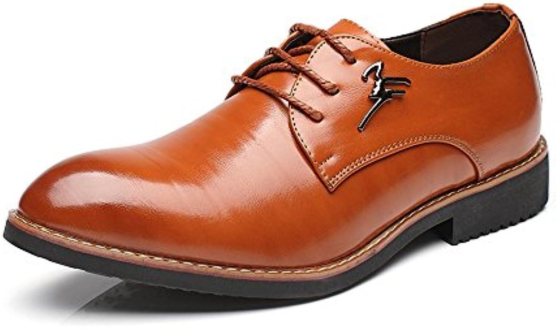 Fang shoes  2018 Formale Geschaumlfts Schuhe der Männer mattieren PU Leder Obere Schnürung Breathable Spitze Toe