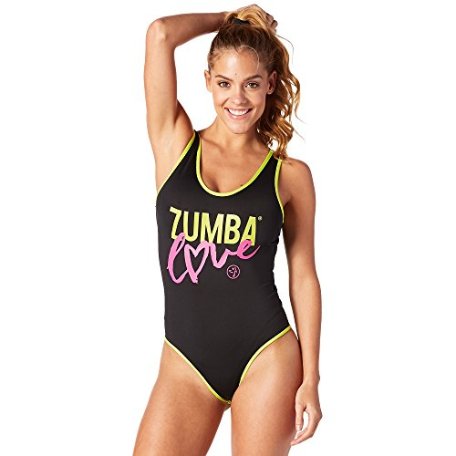 Zumba Fitness® Love Body Suit Top, Todo el año, Mujer, Color Back to Black, tamaño XX-Large