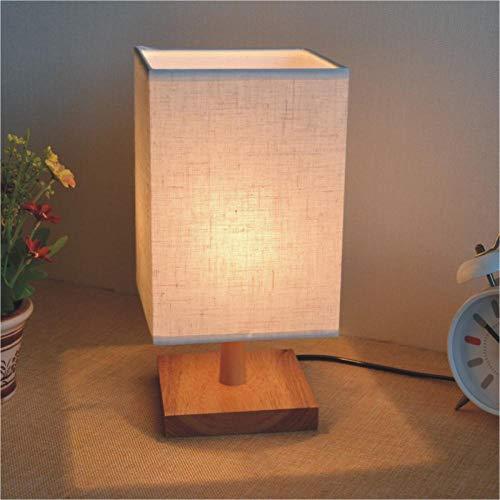 Cadeau d'anniversaire lumière lampe de table en bois massif nuit conduit à gradateur chambre chevet moderne minimaliste en bois massif 1