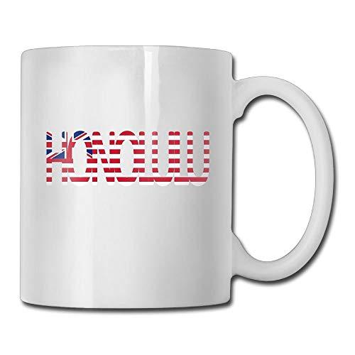 XIEXING Strong Stability Durable Honolulu Hawaii Flag Fashion Coffee Cup Porcelain Kaffeebecher