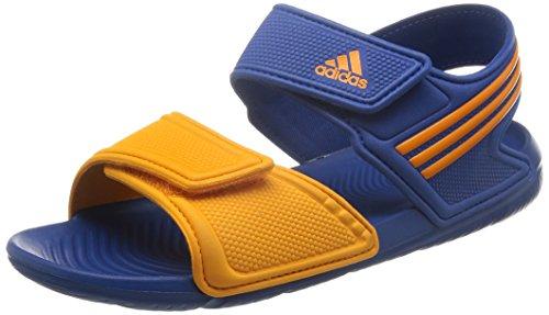 adidas Unisex Baby Akwah 9 K Flip-Flops, Azul / Naranja (Eqtazu / Eqtnar / Eqtazu), 38 EU