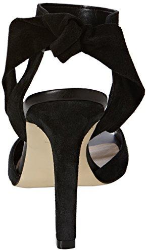 Vero Moda Vmmalene Leather Sandal, Sandales Bride arrière femme Noir (Black)