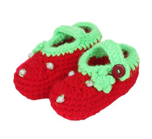 Bigood Chausson Naissance Crochet Chaussure Souple Bébé Premier Pas