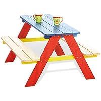 Pinolino Nicki 201616 - Mesa de picnic para 4 niños, multicolor