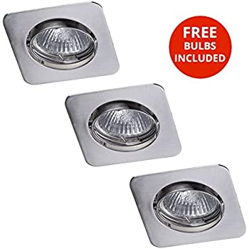 5 Pack Bathroom IP65 Rated Shower GU10 Tiltable Round Ceiling Recessed Spot Light Downlights in White Litecraft