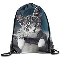 f2fce7f3c22b tgkze Unisex Cute Cat Funcy Kitty Print Drawstring Backpack Rucksack  Shoulder Bags Gym Bag Sport Bag