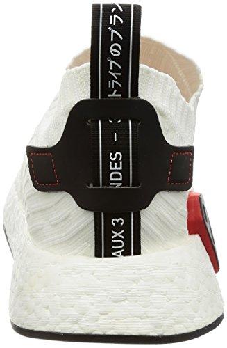 adidas NMD_r2 PK, Sneaker Uomo bianco (Ftwbla / Negbas / Ftwbla)