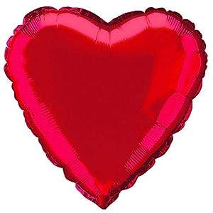 Unique Party Globo foil helio corazón Color rojo 45 cm 52953