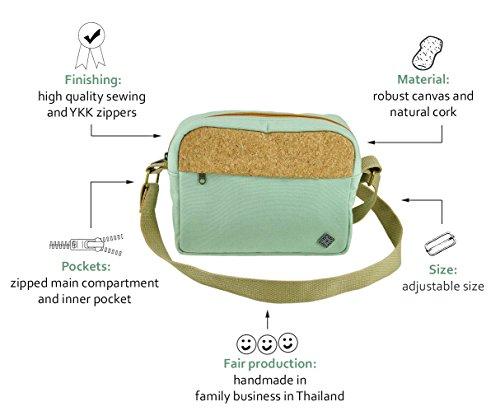 Borsa tracolla uomo come piccole borse a spalla con decorazione in sughero per un look unico come abbigliamento etnico di virblatt �?Verkorkst gr Verde