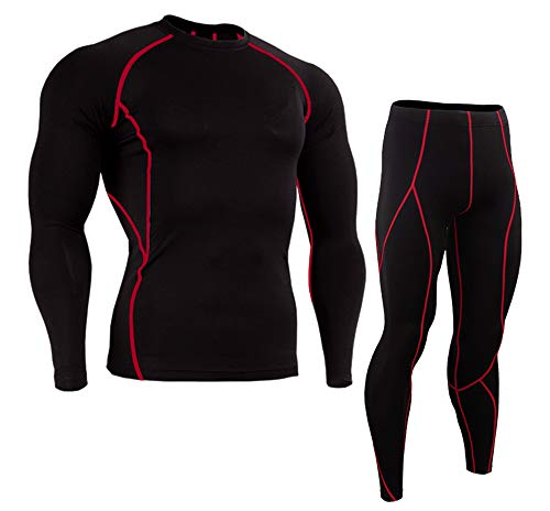 KINDOYO Herren Fitness Sport Set - Sportwear for Running Yoga, Style 1, EU L=Tag XL