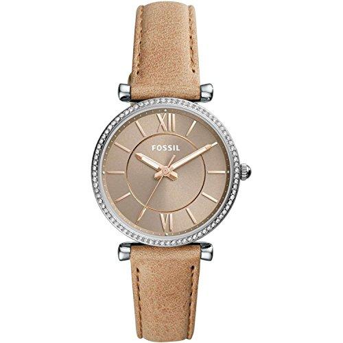 Fossil Damen Analog Quarz Uhr mit Leder Armband ES4343 (Uhr Mit Lederarmband)