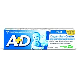A&D Zinc Oxide Diaper Cream, 0.35 Pound