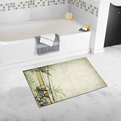 Soefipok Bambus Traditionelle Orientalische Chinesische Malerei Wohnkultur Rutschfeste Bad Teppich Set Saugfähigen Fußmatten für Badezimmer Badewanne Schlafzimmer - Traditionelle-badezimmer-eitelkeit-set