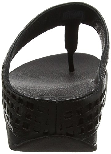 FitFlop Safi Tm Toe Post, Infradito Donna Black (All Black)