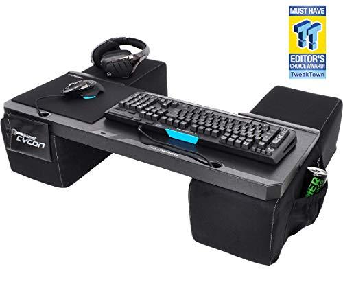 Couchmaster® CYCON Wildleder-Look schwarz - Die Couch Gaming Auflage für Maus & Tastatur (für PC / PS4 / Xbox One) -