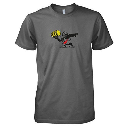 TEXLAB - Banksy Kong - Herren T-Shirt, Größe L, grau (Banksy Graffiti Kostüm)