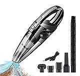 QYLT Aspirapolvere per Auto, Aspirapolvere Portatile Senza Fili, Ricaricabile 120W a Secco EA Umido, Bassa Rumorosità, capacità Superassorbente per Auto, Cucine, Animali Domestici