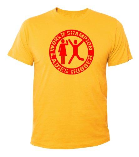 Mister Merchandise Cooles Fun T-Shirt World Champion Ladies Hugger Gelb