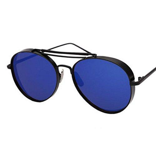 Verdicken Farbe Film Reflective großen Rahmen-Sonnenbrille tiefes Blau