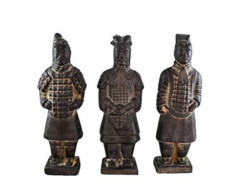 Chinesische Terrakotta Krieger, Antike Reproduktion China Qin Dynastie Terrakotta Krieger Souvenir Geschenke Reiseandenken Desktop Dekoration 3 STÜCKE