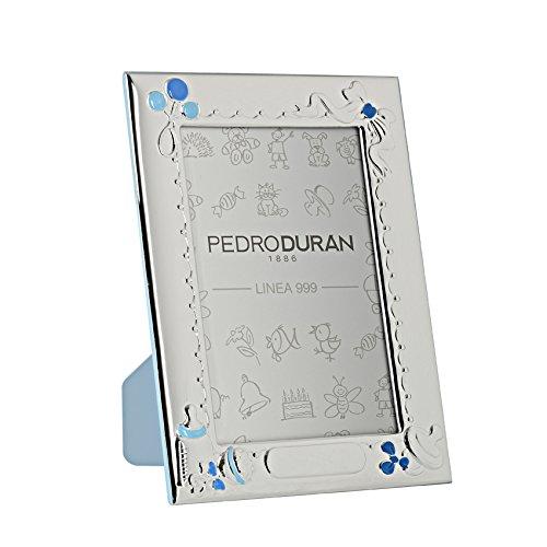 Pedro Duran 07500334 Cadre de Photo Tétine-Biberon Bleu 10 x 15 cm