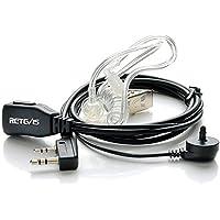 Retevis  Auricular Transparente Antirruido con Micrófono PTT Compatible con Walkie Talkis Retevis RT24 RT21 RT22 RT27 RT15 RT3 RT5 RT5R RT5RV RT7 RT81 Kenwood PUXING Baofeng UV-5R 888S (1 Piezas)