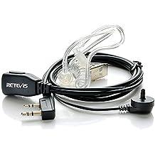 Retevis Auricular Transparente Antirruido con Micrófono PTT Compatible con Walkie Talkis Retevis RT24 RT21 RT22 RT27