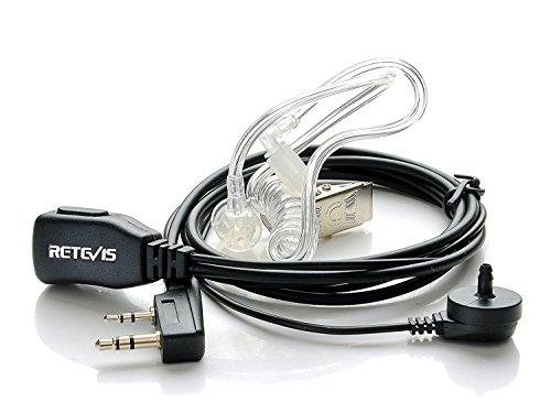 funkgeraete mit headset Retevis 2 Pin Funkgeräte Headset Ohrhörer mit Schallschlauch für Kenwood PUXING Baofeng UV-5R 888S