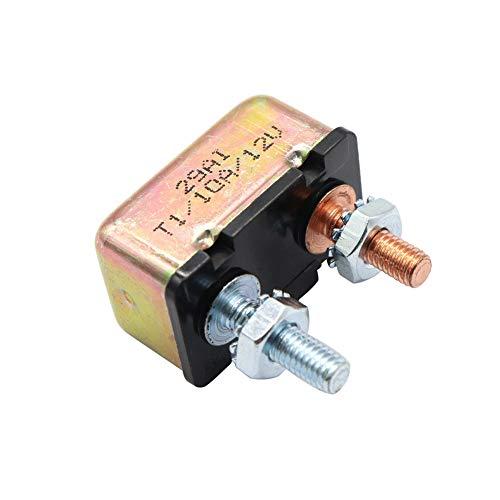 Ahomi 10 AMP 12 V/24 V Disjoncteur métallique avec couvercle auto réinitialisation automatique double batterie fusible 10 A