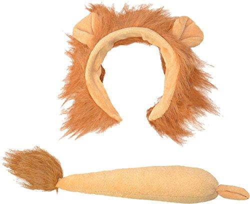 (Bristol Novelty ds158Löwe Ohren und Schwanz Kostüm Set, braun, one size)